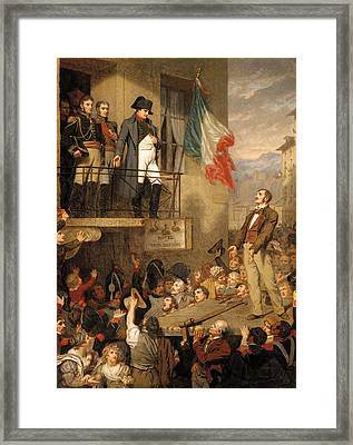 The Eagle's Flight Framed Print by Hugues Merle