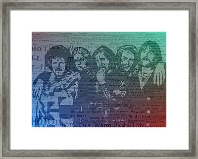 The Eagles Hotel California Framed Print by Dan Sproul