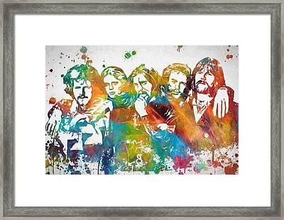 The Eagles Paint Splatter Tribute Framed Print by Dan Sproul