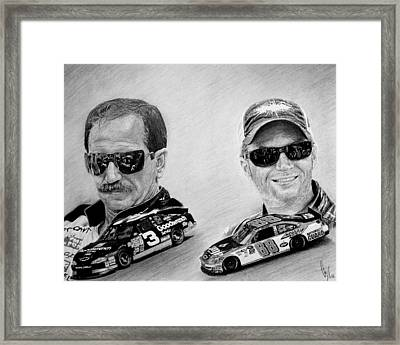 The Earnhardts Framed Print by Bobby Shaw