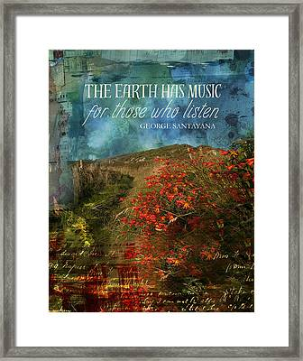 The Earth Has Music Framed Print by Catherine Jones