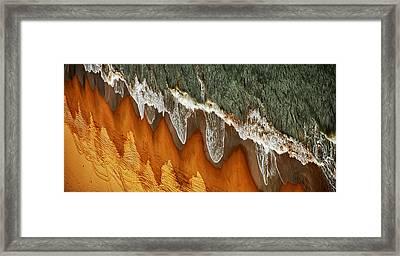 The East China Sea Shore Framed Print by Jacek Stefan