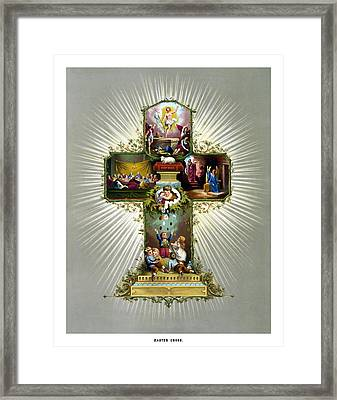 The Easter Cross Framed Print by War Is Hell Store