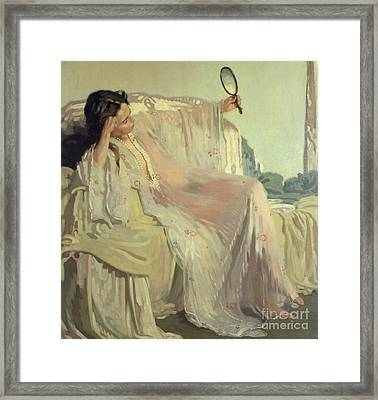 The Eastern Gown Framed Print by Sir William Orpen