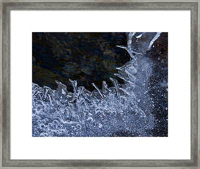 The Edge Of Ice Framed Print by Jean Noren