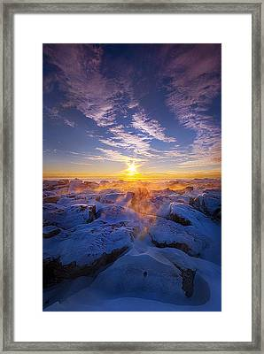 The Edge Of Sanity Framed Print by Phil Koch