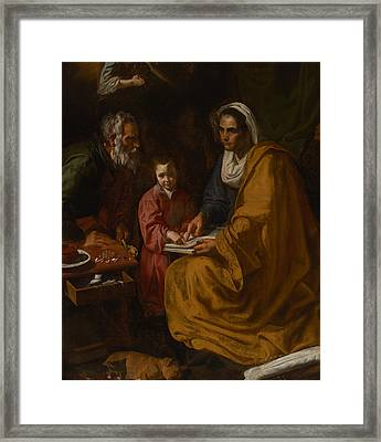 The Education Of The Virgin Framed Print by Mountain Dreams