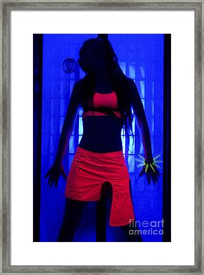 The Effects Of Uv On Reflective Clothing Framed Print by Ilan Rosen