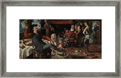 The Egg Dance, 1552 Framed Print by Pieter Aertsen