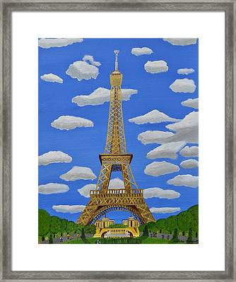 The Eiffel Tower  Framed Print by Magdalena Frohnsdorff