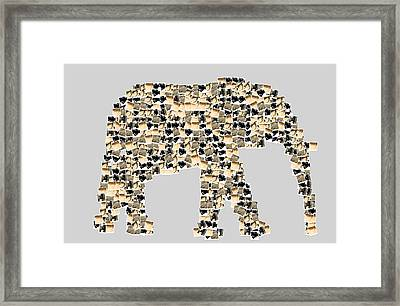 The Elephant Framed Print by Toppart Sweden