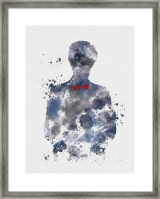The Eleventh Doctor Framed Print by Rebecca Jenkins