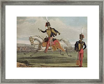 The Eleventh Hussars Framed Print by J Earp