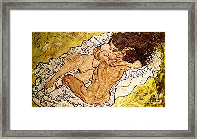 The Embrace Framed Print by Egon Schiele