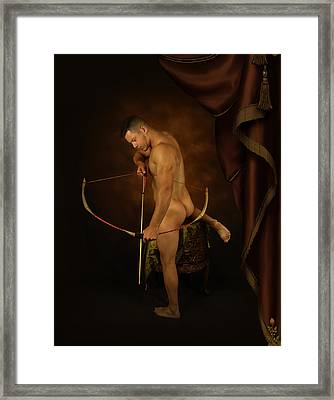 The Embracing Of Shadows Framed Print by Mark Ashkenazi