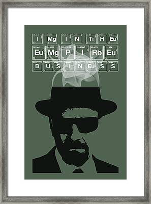 The Empire Business - Breaking Bad Poster Walter White Quote Framed Print by Beautify My Walls