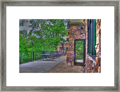 The Empty Cafe Framed Print by Robert Pearson