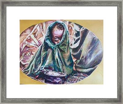 Observant Suffering Framed Print by Michael African Visions