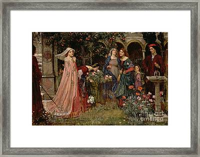 The Enchanted Garden Framed Print by John William Waterhouse