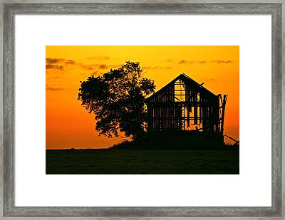 The End Is Near Framed Print by Michael Peychich