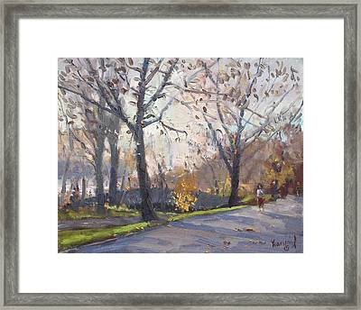 The End Of Fall At Three Sisters Islands Framed Print by Ylli Haruni