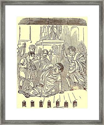 The End Of Julius Caesar Framed Print by English School