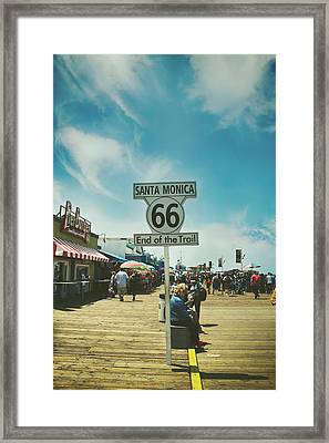 The End Of Sixty-six Framed Print by Laurie Search