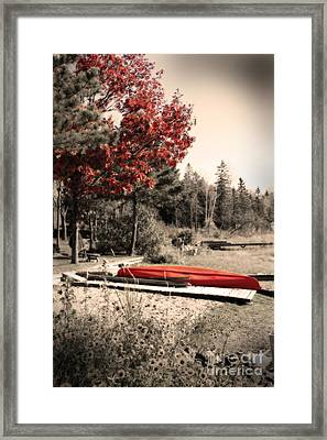 The End Of Summer Framed Print by Cathy  Beharriell