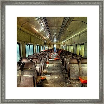 The End Of The Line Framed Print by David Patterson