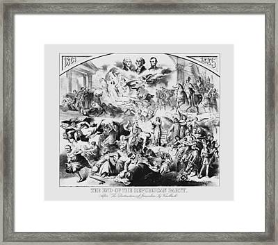 The End Of The Republican Party Framed Print by War Is Hell Store