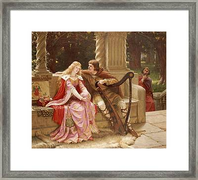 The End Of The Song Framed Print by Edmund Blair Leighton