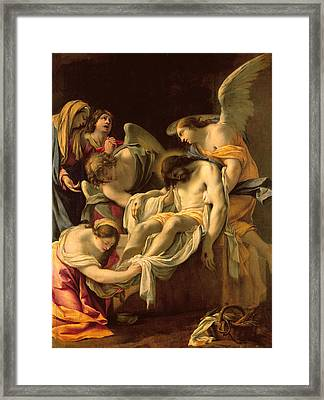 The Entombment Framed Print by Simon Vouet