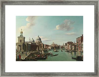 The Entrance To The Grand Canal Looking Wes Framed Print by MotionAge Designs