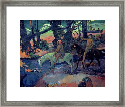The Escape Framed Print by Paul Gauguin