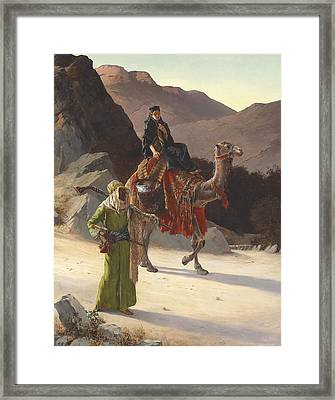 The Escort Framed Print by Rudolf Ernst