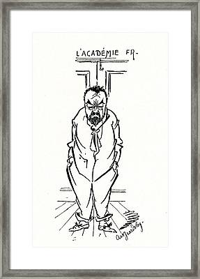 The Exclusion Of Emile Zola From The Academie Francaise Framed Print by Aubrey Beardsley