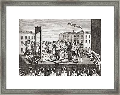 The Execution Of Jacques Pierre Framed Print by Vintage Design Pics