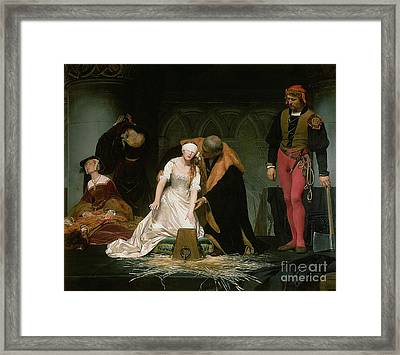 The Execution Of Lady Jane Grey Framed Print by Hippolyte Delaroche