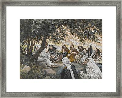 The Exhortation To The Apostles Framed Print by Tissot