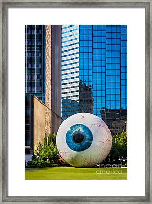The Eye Framed Print by Inge Johnsson