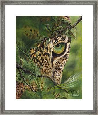 The Eye Framed Print by Myra Goldick