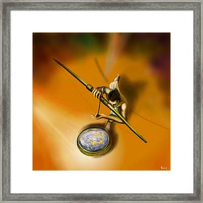 The Eye Of The Fish Only Framed Print by Parag Pendharkar