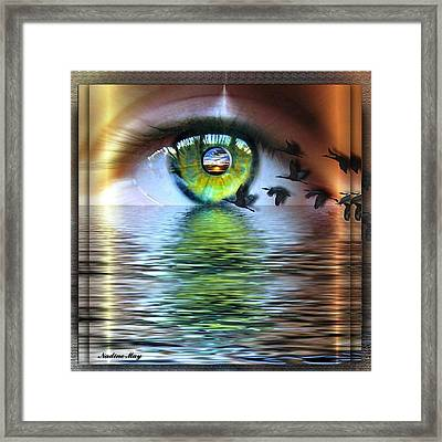 The Eye Of The Observer Framed Print by Nadine May