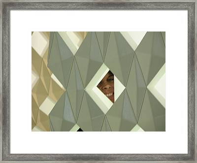 The Face In The Diamond Framed Print by Csilla Florida