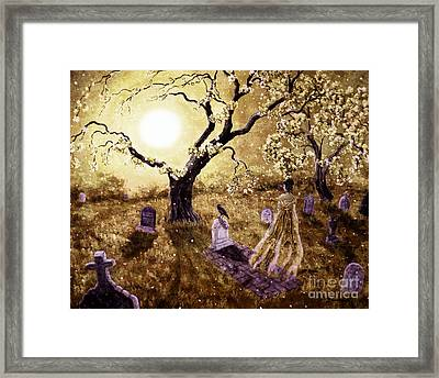 The Fading Memory Of Lenore Framed Print by Laura Iverson