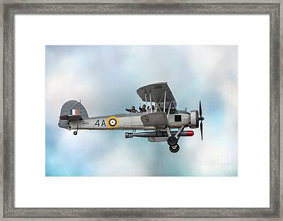The Fairey Swordfish Framed Print by Adrian Evans