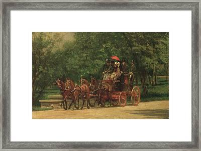 The Fairman Rogers Coach And Four  Framed Print by Thomas Cowperthwait Eakins