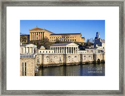 The Fairmount Water Works And Art Museum Framed Print by John Greim