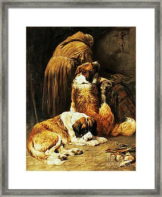 The Faith Of Saint Bernard Framed Print by John Emms