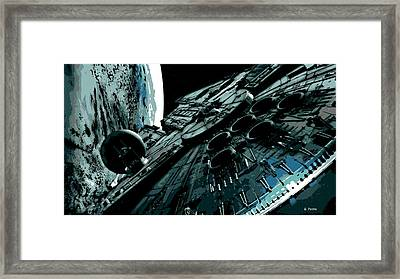 the Falcon Framed Print by George Pedro